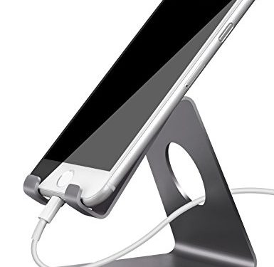 Gray – Lamicall Cell Phone Stand, Phone Dock : Cradle, Holder, Stand Compatible with Switch, All Android Smartphone, Phone 6 6s 7 8 X Plus 5 5s 5c XS Max XR Charging Accessories Desk