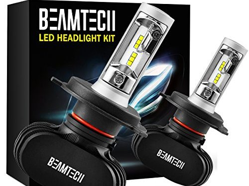 BEAMTECH H4 LED Headlight Bulb, 50W 6500K 8000Lumens Extremely Brigh 9003 Hi/Lo CSP Chips Conversion Kit