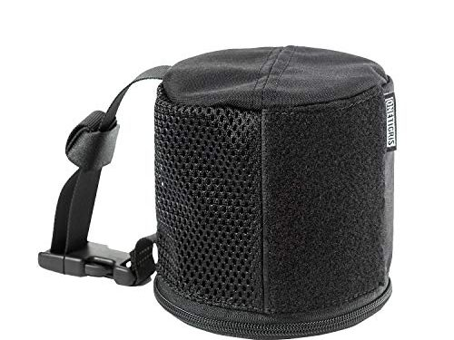 OneTigris Tactical Car Tissue Roll Holder with Zipper Bottom for Vehicle Seat Headrest Black