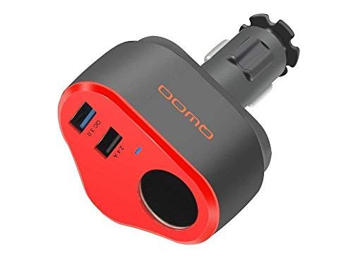 Car USB Charger, Quick Charge 3.0 Dual USB Ports with Cigarette Lighter Splitter 4.8A 40W USB Car Charger with Smart-Adaptive Rapid Charging for Mobile Device