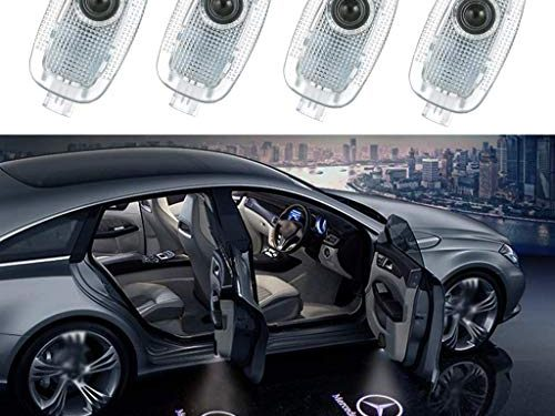 Car Door LED Logo Projector Lighting for Mercedes Benz S Class Accessory Wireless Welcome Emblem Lamp W221 Benz S Class 2008 2013 S500 S350 S63 S65 Logo 4 Pack
