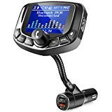 ZEEPORTE Bluetooth FM Transmitter for Car, 1.8″ Color Screen Wireless Bluetooth FM Radio Adapter QC3.0 Qucik Charger with EQ Mode, 3 USB Ports, 4 Music Playing, Hands-Free Calls, TF Card, AUX Output –