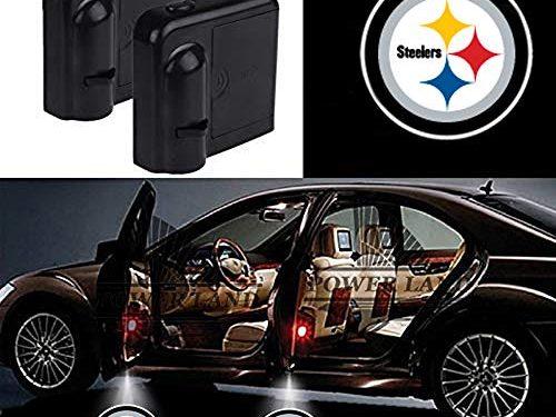 For Pittsburgh Steelers Car Door Led Welcome Laser Projector Car Door Courtesy Light Suitable Fit for all brands of cars Pittsburgh Steelers