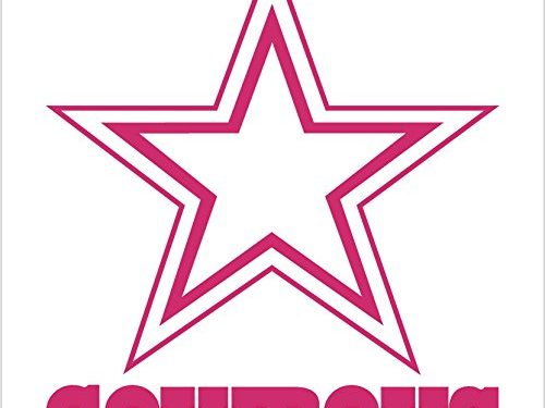 Old Glory Dallas Cowboys – Logo Sricker Decal 8″, Pink