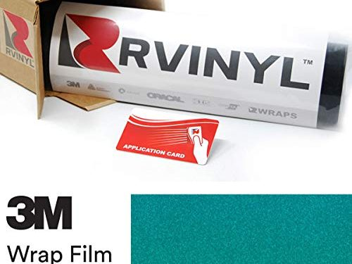 3M 1080 G356 Gloss Atomic Teal 4in x 6in Sample Size Vinyl Vehicle Car Wrap Film Sheet Roll