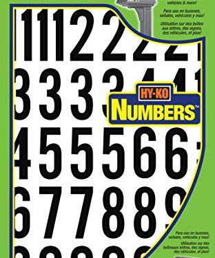 Hy-Ko Products MM-7N Self Adhesive Vinyl Numbers 2″ High, Black & White, 39 Pieces
