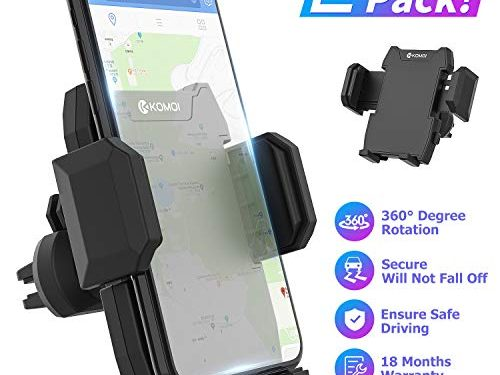Cell Phone Holder for Car, Universal Car Air Vent Mount with Adjustable Compatible with iPhone 11 Pro Max XS XS Max XR X 8 8+ 7 7+ SE 6s 6+ 6 5s Samsung Galaxy S10 S9 S8 S7 and More Black