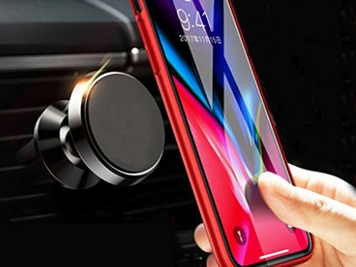 Magnetic Car Mount Air Vent, MANORDS Universal Cell Phone Holder 360°Rotation GPS Mount Compatible iPhone Xs Max Xs X 8 Plus 7 6s SE Samsung Galaxy S9 S8 Edge S7 S6 Note 9 and More Black