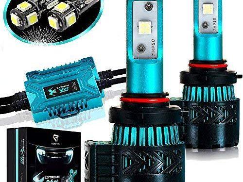 9005 HB3 Cree XHP50 Chip 12000 Lumens/Pair 68 Watt 6500 Kelvin 2 Year Warranty – Glowteck LED Headlight Bulbs Conversion Kit