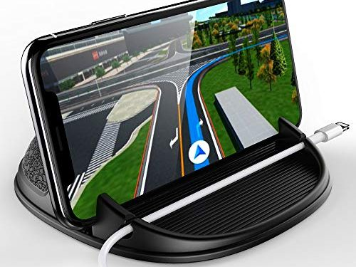 Car Phone Holder, Car Phone Mount Silicone Phone Car Dashboard Car Pad Mat Various Dashboards, Anti-Slip Desk Phone Stand Compatible with iPhone, Samsung, Android Smartphones, GPS, KGs3