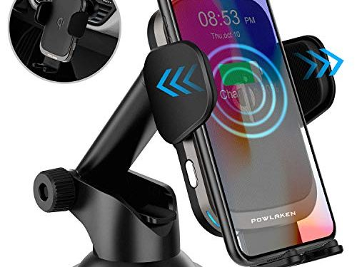 Updated 2019 Version Wireless Car Charger, 10W Qi Fast Charging Auto-Clamping Car Mount, Dashboard Air Vent Phone Holder for iPhone 11/11 Pro/11 Pro MAX/Xs MAX/XS/XR/X/8/8+/7, Samsung Galaxy Note10