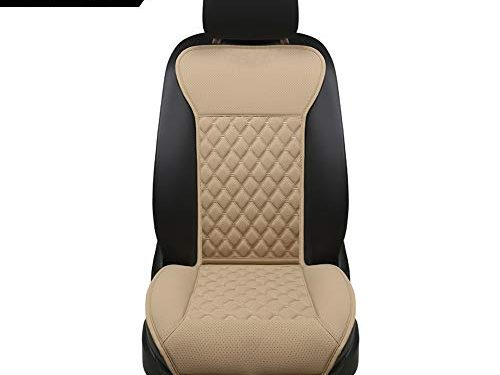 Black Panther Car Seat Covers, Luxury Car Protector,Universal Anti-Slip Driver Seat Cover with Backrest2 Pieces,Beige