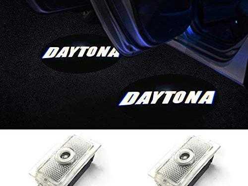 Car LED Logo Light Dodge Projector Ghost Shadow Charger 2 Pack OEM Courtesy Light for Dodge Charger SRT Hellcat GT R/T Daytona Scat Pack-No1