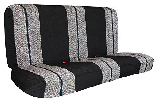 Saddle Blanket Black Full Size Pickup Trucks Bench Seat Cover Universal Work with Chevrolet Dodge Ford Bench Seats – Leader Accessories