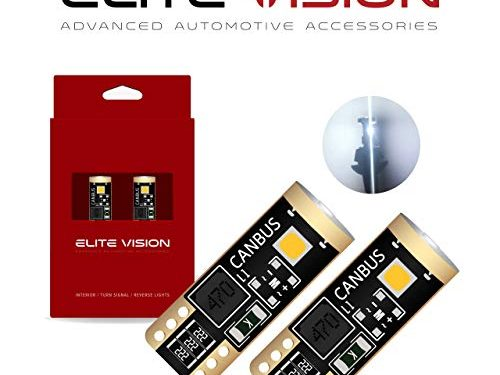 Elite Vision 194 168 T10 192 2825 W5W Titanium Series LED Non-Polarity 400LM 6000K Bright White for Dome Map Courtesy Door License Plate Cargo Interior Lights Pack of 2