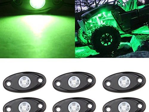 LED Rock Light Kits 6 Pod LED Light Lamp for Interior Exterior Under Off Road Truck Jeep ATV SUV Jeep 4×4 Boat 4wd Motorcycle Car Green