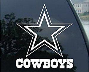Dallas Cowboys – Logo Cut Out Decal 8″, White