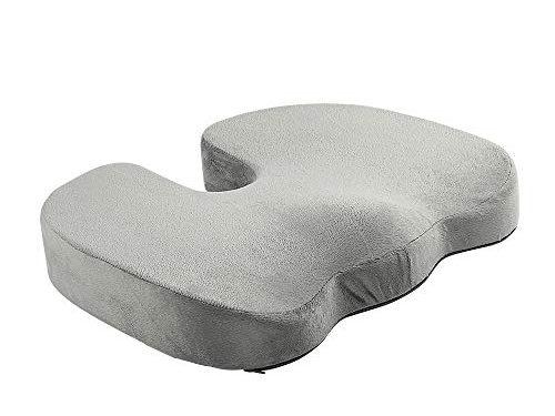 Art3d Premium Orthopedic Memory Foam Coccyx Seat Cushion Tailbone Pain, Sciatica Back Pain Relief – Grey – Office Chair Wheelchair Car Seat Cushion