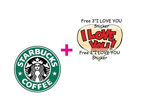 3″ Starbucks LOGO Decal Sticker for case car laptop phone bumper etc