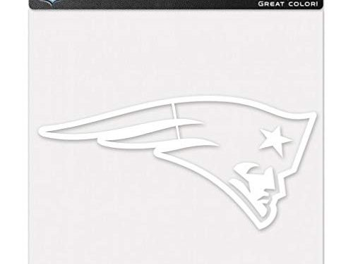 WinCraft NFL New England Patriots WCR25654061 Perfect Cut Decals, 8″ x 8″