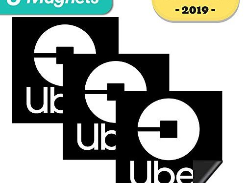 Sign for Rideshare Drivers 3Pack Magnet – 3 Premium Magnets Bulk Pack – Durable Car Door/Bumper Magnet w/Highly Reflective Vinyl – Rideshare Sign Magnet – 5″x5″ inches