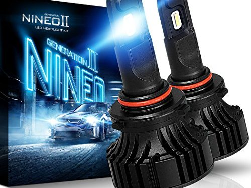 12000Lm 6500K Extremely Bright All-in-One Conversion Kit,360 Degree Adjustable Beam Angle – CREE Chips – NINEO 9005 HB3 LED Headlight Bulbs
