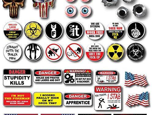 38 pack of Crude Humor Hilarious Hard Hat Prank Decal Joke Sticker Funny Laugh Construction LOL
