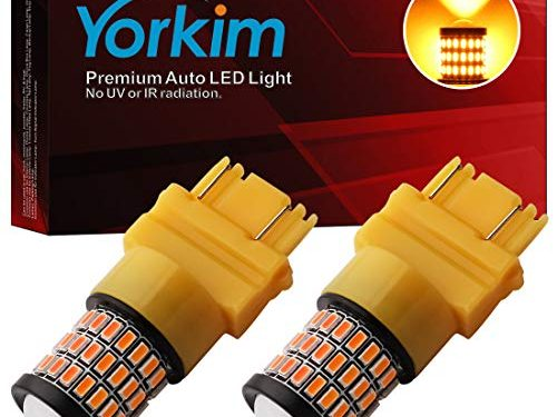 3056 3156 3057 3157 4157 LED Bulbs, Pack of 2 – Yorkim Super Bright 3157 Amber LED Bulb, 3157 LED Brake Light, 3157 LED Backup Reverse Lights, 3156 LED Tail Lights, Turn Signal Bulb with Projector