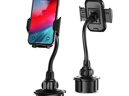 Car Cup Holder Phone Mount, Upgraded Kinhan Cupount_XL Universal Cell Phone Holder for iPhone Xs/X/8/7/6s/6Plus,Galaxy/Note etc