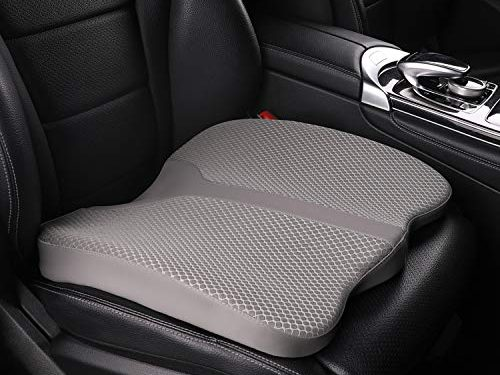 LARROUS Car Memory Foam Heightening Seat Cushion,Tailbone Coccyx and Back Pain Rrelief Cushion,for Office Chair,Wheelchair and More.