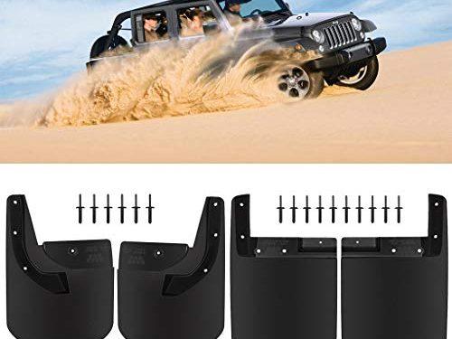 Royalo Front & Rear Mud Flap/Splash Guard for Jeep Wrangler JL Sahara/Sport No Drill Custom Fit Set of 4Pcs Textured Black
