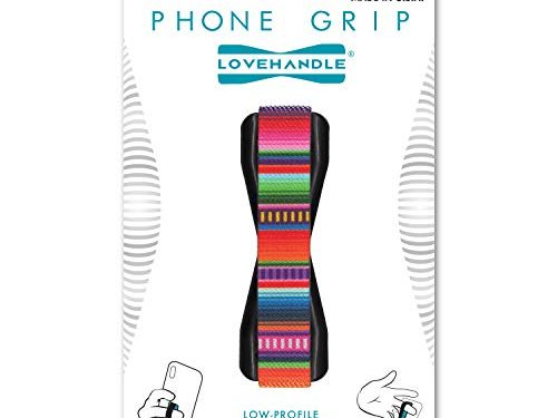 LOVEHANDLE Cell Phone Grip Holds Device with just a Finger – Grip it Securely for Texting, Photos and Selfies Serape – Ultra Slim Pocket Friendly Love Handle Finger Grip for iPhone Mini Tablet