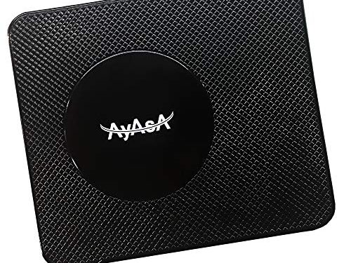 AyasA z100 Car Pad Non Slip Sticky Anti Slide Dash Cell Phone Mount Holder Mat Car Dashboard Sticky Pad Adhesive Mat for Cell Phone/Electronic Devices/GPS