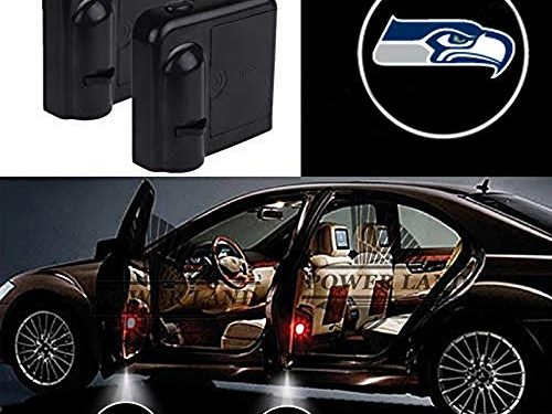 For Seattle Seahawks Car Door Led Welcome Laser Projector Car Door Courtesy Light Suitable Fit for all brands of cars Seattle Seahawks