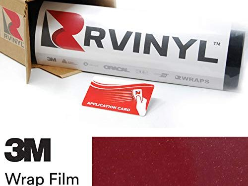 3M 1080 GP253 Gloss Cinder Spark RED 4in x 6in Sample Size Vinyl Vehicle Car Wrap Film Sheet Roll