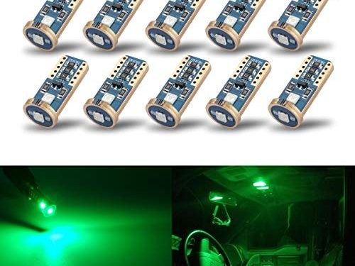 iBrightstar Newest Extremely Bright Wedge T10 168 194 LED Bulbs For Car Interior Dome Map Door Courtesy License Plate Lights,Green