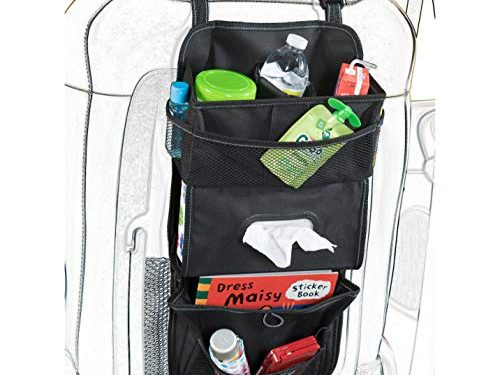 High Road TissuePockets Car Seat Organizer and Tissue Holder Black