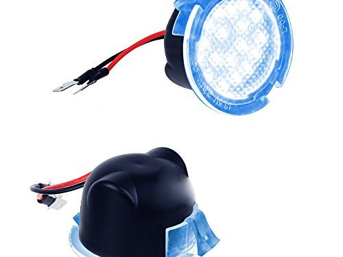 MOFORKIT LED Side Mirror Puddle Light Compatible with Ford F150 Edge Explorer Sport Ice Blue
