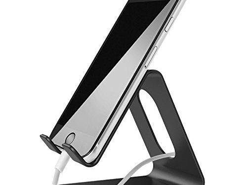 Cell Phone Stand, LOBKIN Metal PhoneTablet Cradle, Holder, Stand,for iPhone 8 X 7 6 6s Plus 5 5s 5c Charging, Accessories Desk, All Android Smartphone, iPad Stand