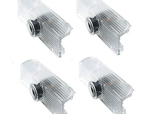 4pcs For Nissan Altima Armada Maxima Titan Quest Door Projector Lights Welcome Lights Logo Car Door Lamps Replacement Assembly Led Courtesy Step Lights 3W HD