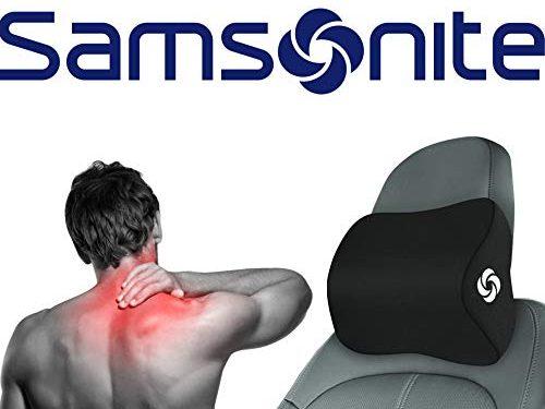 Samsonite SA5942  Travel Neck Pillow for Car, SUV  Helps Relieve Neck Pain  100% Pure Memory Foam