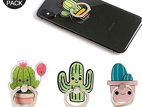 Cactus Phone Ring Holder Stand,Cactus Phone Ring Stand Holder 360 Rotation Finger Ring Grip Stand for Cellphones,Smartphones and Tablets