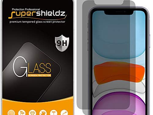 2 Pack Supershieldz for Apple iPhone 11 and iPhone XR 6.1 inch Privacy Anti Spy Tempered Glass Screen Protector, 0.33mm, Anti Scratch, Bubble Free