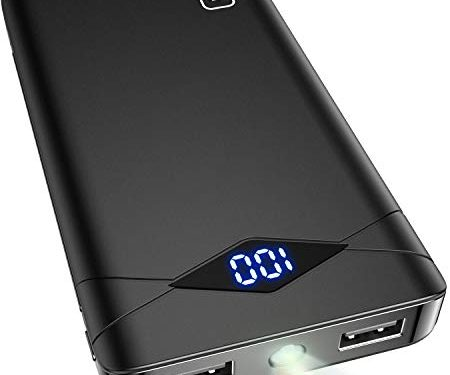 INIU Power Bank, LED Display 10000mAh Portable Charger, Dual 3A High-Speed 2 USB Ports with Flashlight Battery Pack, Compatible with iPhone XS X 8 Samsung Galaxy S10 S9 Note 10 Google Oneplus iPad etc