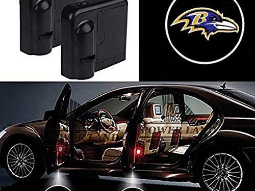 For Baltimore Ravens Car Door Led Welcome Laser Projector Car Door Courtesy Light Suitable Fit for all brands of cars Baltimore Ravens