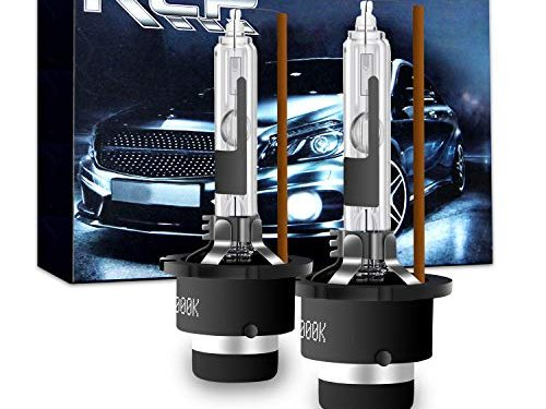 A Pair D2R 4300K Xenon HID Replacement Bulb Factory White Warm White Metal Stents Base 12V Car Headlight Lamps Head Lights 35W – D2R4 – RCP