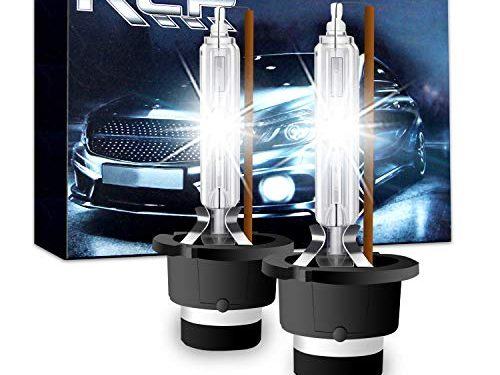 A Pair D2S/ D2R 4300K Xenon HID Replacement Bulb Factory White Warm White Metal Stents Base 12V Car Headlight Lamps Head Lights 35W – RCP – D2S4