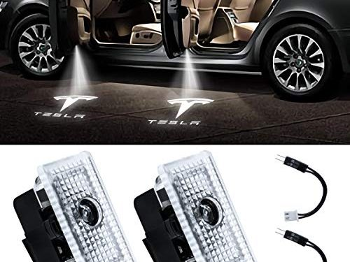 Eogifee 3 Ultra-Bright Car LED Door Projector Courtesy Laser Projector Welcome Lights Ghost Shadow Light for The Replacement of Tesla Model 3 Model S Model X