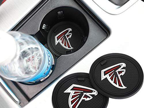 2 Pack 2.75 inch for Atlanta Falcons Car Interior Accessories Anti Slip Cup Mat for All Vehicles Atlanta Falcons