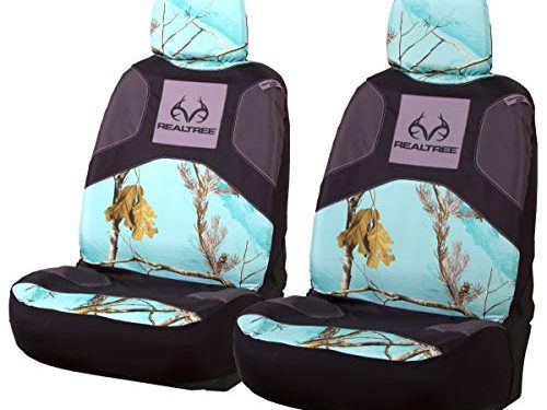 Realtree Camo Seat Covers | Low Back | AP Cool Mint | 2 Pack